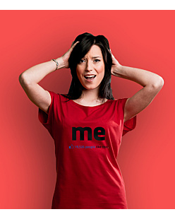 Me – 19,526 people like this T-shirt damski Czerwony XXL