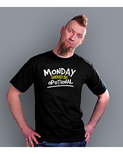 Monday Should Be Opotional T-shirt męski Czarny S