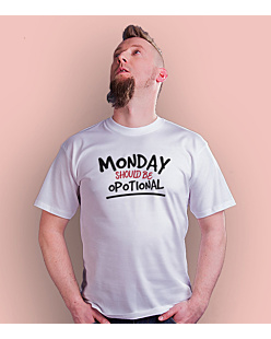 Monday Should Be Opotional T-shirt męski Biały S