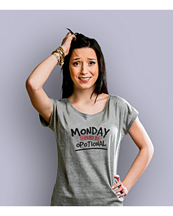 Monday Should Be Opotional T-shirt damski Jasny melanż XS