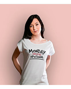 Monday Should Be Opotional T-shirt damski Biały XS