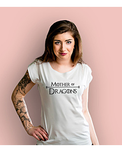 Mother of Dragons T-shirt damski Biały XS