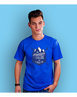 Mountains Are Calling T-shirt męski Niebieski S