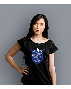 Mountains Are Calling T-shirt damski Czarny XS