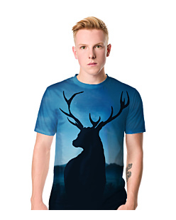 Night Deer - Męskie T-shirt męski FullPrint S