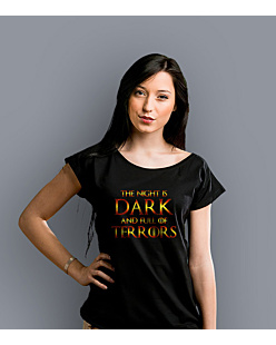 The Night is dark T-shirt damski Czarny XS