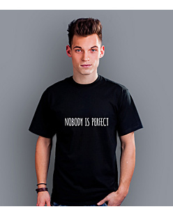 Nobody is perfect T-shirt męski Czarny S