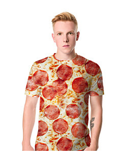 Pizza Fullprint T-shirt męski FullPrint S