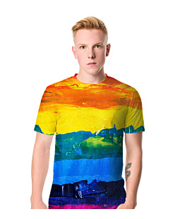 Rainbow art T-shirt męski FullPrint S