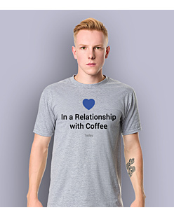 Relationship with a coffee T-shirt męski Jasny melanż S