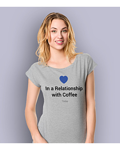 Relationship with a coffee T-shirt damski Jasny melanż XS