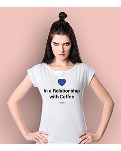 Relationship with a coffee T-shirt damski Biały XS