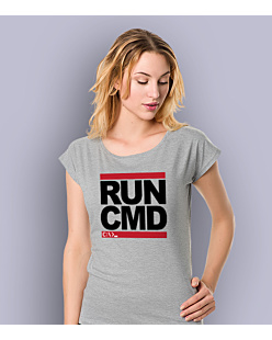Run CMD T-shirt damski Jasny melanż XS