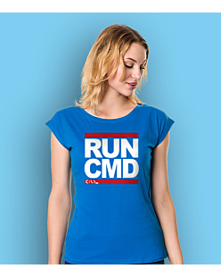 Run CMD T-shirt damski Niebieski XXL