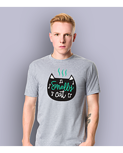 Smelly Cat T-shirt męski Jasny melanż S