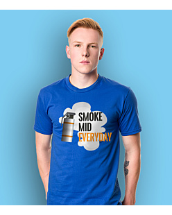 Smoke Mid Everyday T-shirt męski Niebieski XXL