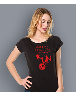Stranger Things - Run T-shirt damski Czarny XXL