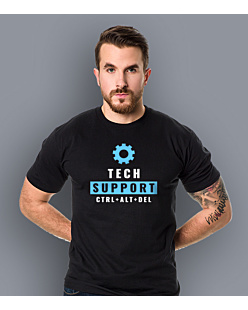 Tech Support T-shirt męski Czarny S
