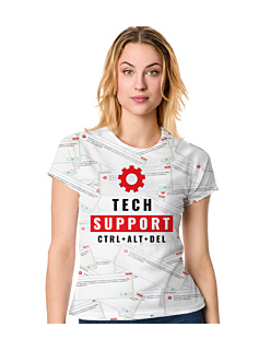 Tech Support Fullprint T-shirt Damski FullPrint XXL
