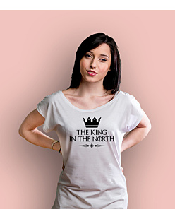 The King in the north T-shirt damski Biały XS