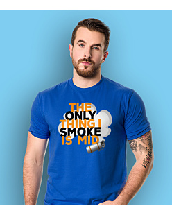 The only thing i smoke is mid T-shirt męski Niebieski S
