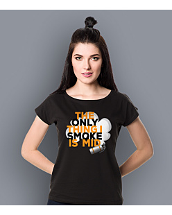 The only thing i smoke is mid T-shirt damski Czarny XS