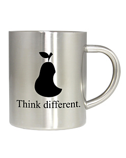Think Different Apple Kubek Stalowy Uniwersalny
