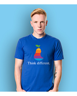 Think Different Apple T-shirt męski Niebieski XXL