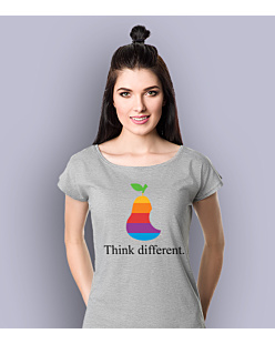 Think Different Apple T-shirt damski Jasny melanż XS