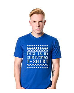 This is my christmas T-shirt  T-shirt męski Niebieski S