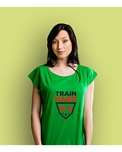 Train Hard T-shirt damski Zielony XS