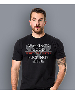 Gra o tron - Walkings Good Fuckings Best T-shirt męski Czarny L