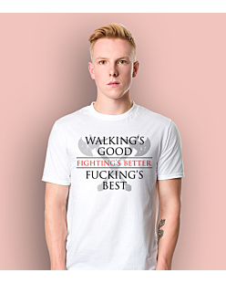 Gra o tron - Walkings Good Fuckings Best T-shirt męski Biały L