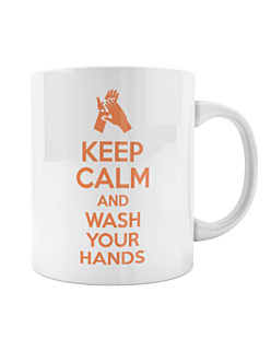 Keep Calm and Wash Your Hands Kubek Biały Universal