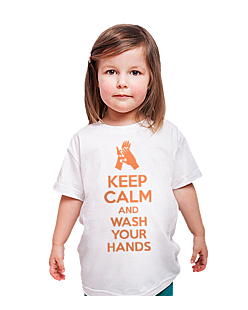 Keep Calm and Wash Your Hands T-shirt dziecięcy Biały 110