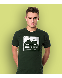 Welcome to Twin Peaks T-shirt męski Ciemnozielony S