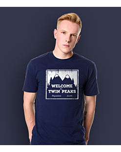 Welcome to Twin Peaks T-shirt męski Granatowy S