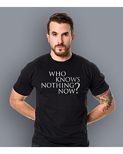 Gra o Tron - Who knows nothing know? T-shirt męski Czarny S