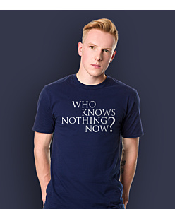 Gra o Tron - Who knows nothing know? T-shirt męski Granatowy S