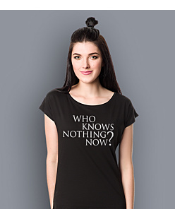 Gra o Tron - Who knows nothing know? T-shirt damski Czarny XS