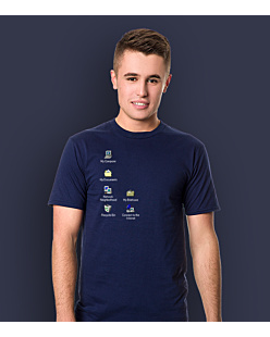 Windows Desktop T-shirt męski Granatowy S
