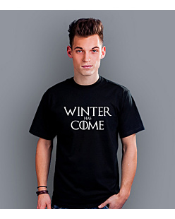 Winter Has Come T-shirt męski Czarny S