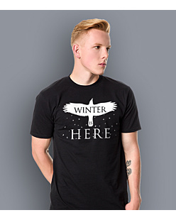 Gra o Tron - Winter is Here T-shirt męski Czarny L