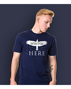 Gra o Tron - Winter is Here T-shirt męski Granatowy L