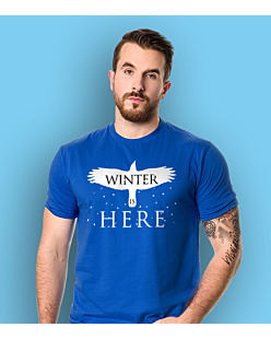 Gra o Tron - Winter is Here T-shirt męski Niebieski L