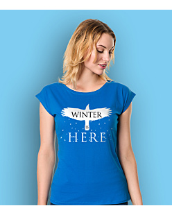 Gra o Tron - Winter is Here T-shirt damski Niebieski L