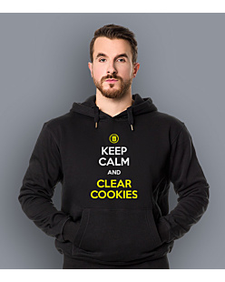 Keep calm and clear cookies Męska bluza z kapturem Czarna S