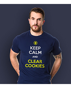 Keep calm and clear cookies T-shirt męski Granatowy S