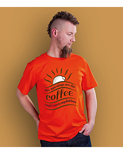Mornings for Coffee T-shirt męski Pomarańczowy S