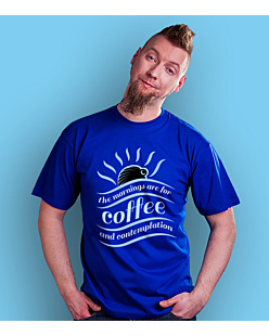Mornings for Coffee T-shirt męski Niebieski S